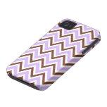Caja marrón púrpura elegante del modelo del galón  Case-Mate iPhone 4 cobertura