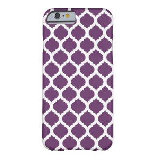 Caja marroquí púrpura del iPhone 6 del modelo Funda De iPhone 6 Barely There
