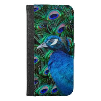 Caja más de la cartera del iPhone 6 del pavo real