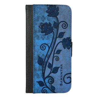 Caja más de la cartera del iPhone 6 florales