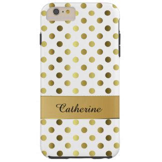 Caja más elegante del oro y del iPhone 6 blancos Funda De iPhone 6 Plus Tough