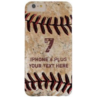 Caja MÁS personalizada del iPhone 6 del béisbol su Funda De iPhone 6 Plus Barely There