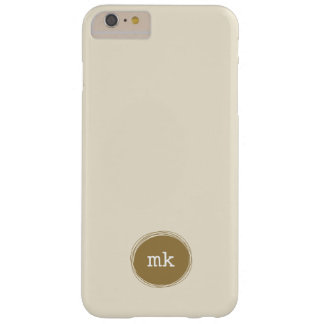 Caja más personalizada del iPhone 6 del monograma Funda De iPhone 6 Plus Barely There