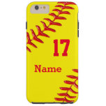 Caja más personalizada del iPhone 6 del softball Funda De iPhone 6 Plus Tough