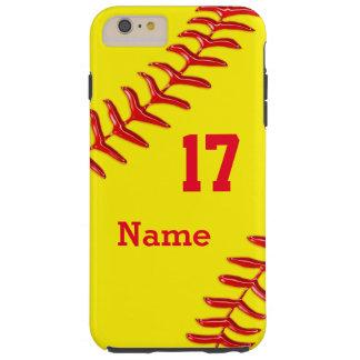 Caja más personalizada del iPhone 6 del softball Funda De iPhone 6 Plus Tough