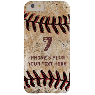 Caja MÁS personalizada del iPhone 7 del béisbol su Funda Barely There iPhone 6 Plus