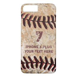 Caja MÁS personalizada del iPhone 7 del béisbol su Funda iPhone 7 Plus