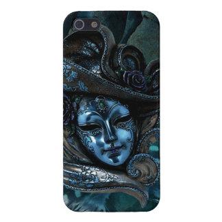 Caja Máscara-Azul del iPhone 5 del damasco del car iPhone 5 Fundas