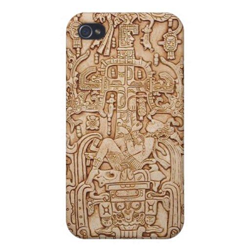 Caja maya de la mota iPhone 4 funda