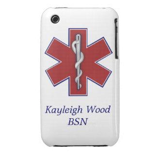 Caja médica personalizada de la casamata iPhone 3 cobertura