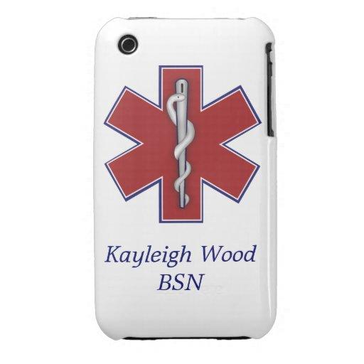 Caja médica personalizada de la casamata iPhone 3 Case-Mate cobertura