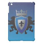 Caja medieval azul del iPad de la heráldica del le