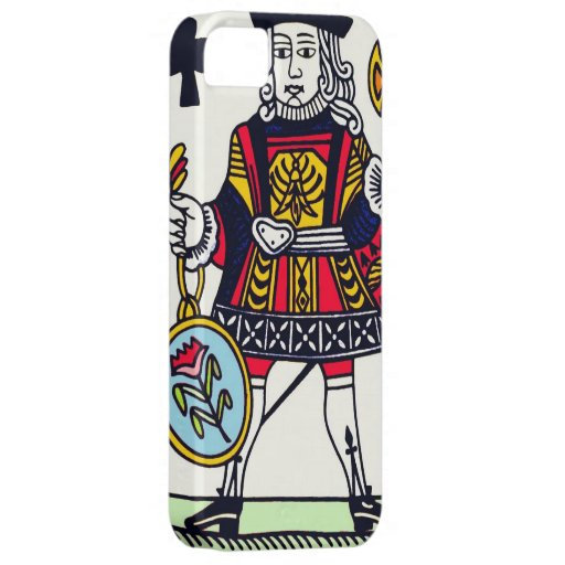 Caja medieval del naipe iPhone4 Funda Para iPhone 5 Barely There