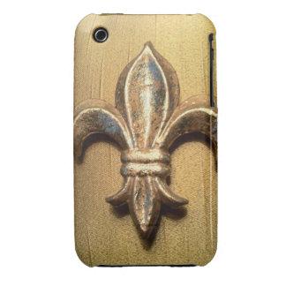 Caja metálica de la impresión de la mirada del oro Case-Mate iPhone 3 cárcasa