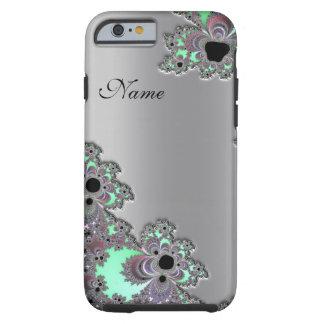 Caja metálica de plata personalizada del iPhone 6 Funda Para iPhone 6 Tough