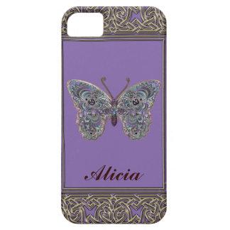 Caja metálica reluciente personalizada de la marip iPhone 5 Case-Mate protectores