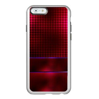 Caja metálica roja fresca de lujo del modelo de funda para iPhone 6 plus incipio feather shine