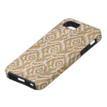 Caja metálica tejida del iPhone de Gatsby del oro iPhone 5 Protector