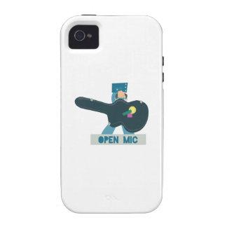 Caja Mic abierto de la guitarra Vibe iPhone 4 Fundas