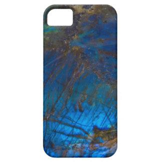 Caja mineral del teléfono de la labradorita iPhone 5 funda