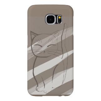 Caja mínima de la galaxia S6 de Samsung del gato Fundas Samsung Galaxy S6
