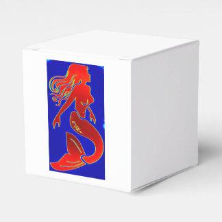 caja modela roja de la sirena caja para regalo de boda