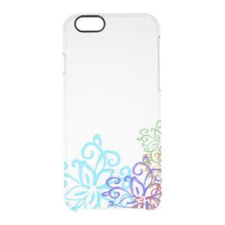 Caja modelada flor elegante del teléfono del funda clear para iPhone 6/6S