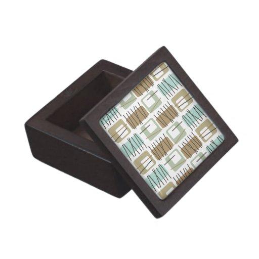 Caja modelada marca de rayitas cruzadas retra de l caja de joyas de calidad