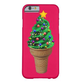Caja moderna del teléfono del árbol de navidad del funda de iPhone 6 barely there