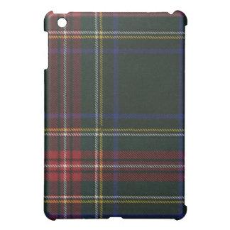 Caja moderna negra del iPad del tartán de Stewart