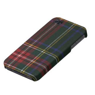 Caja moderna negra del iPhone 4 del tartán de Stew iPhone 4 Coberturas