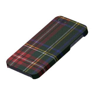 Caja moderna negra del iPhone 5/5S del tartán de S iPhone 5 Fundas
