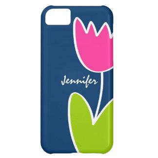 Caja moderna personalizada del iPhone 5C del tulip