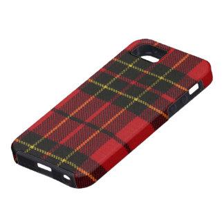 caja moderna roja de la impresión del tartán de Br iPhone 5 Protectores