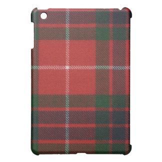 Caja moderna roja del iPad del tartán de Fraser
