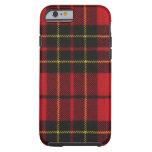 caja moderna roja del tartán de Brodie del caso Funda De iPhone 6 Tough