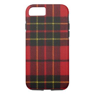 caja moderna roja del tartán de Brodie del caso Funda iPhone 7