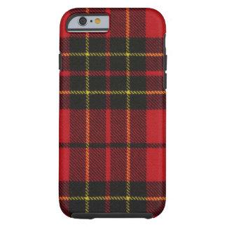 caja moderna roja del tartán de Brodie del caso Funda Para iPhone 6 Tough