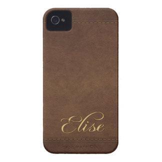 Caja modificada para requisitos particulares Cuero iPhone 4 Carcasas