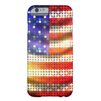 Caja moldeada chispeante brillante de la bandera funda de iPhone 6 barely there