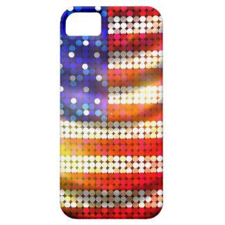 Caja moldeada chispeante brillante de la bandera funda para iPhone SE/5/5s