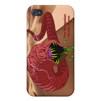 Caja mongol de la mota del gusano de la muerte iPhone 4 funda