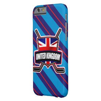 Caja móvil de la bandera británica del hockey funda de iPhone 6 barely there