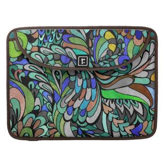 Caja multicolora de la manga de MacBook del pavo Funda Para Macbooks