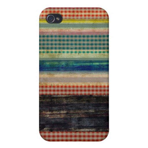 Caja multicolora de la mota del Grunge iPhone 4/4S Carcasa