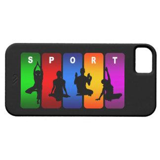 Caja multicolora del iPhone 5 de la yoga Funda Para iPhone SE/5/5s
