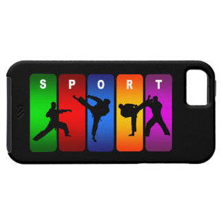 Caja multicolora del iPhone 5 del karate Funda Para iPhone 5 Tough