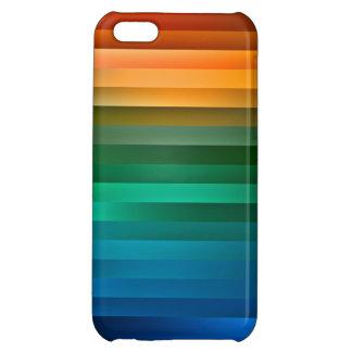Caja multicolora del iPhone de la raya de la cinta