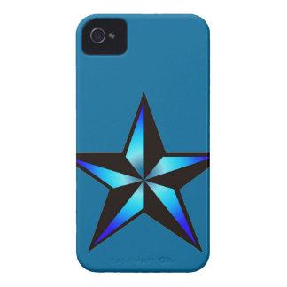 Caja náutica azul del iPhone 4 4S de la estrella d Case-Mate iPhone 4 Carcasa