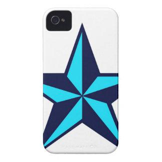 Caja náutica azul del iPhone 4 4S de la estrella Case-Mate iPhone 4 Funda